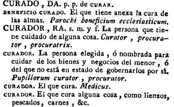 Curador RAE 1780