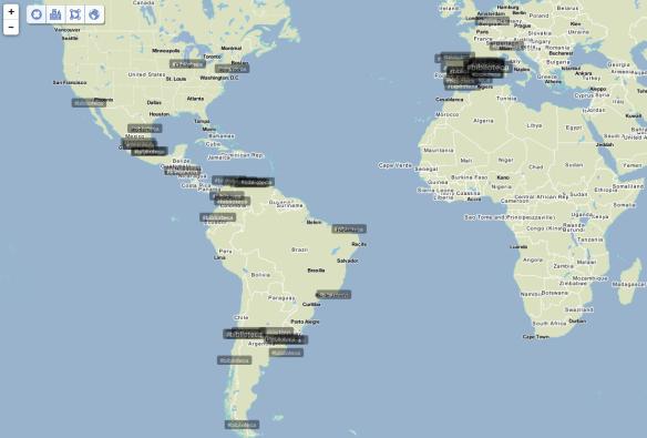 Así se veía el mundo a las 21:30 (hora española) gracias a Trendsmap.
