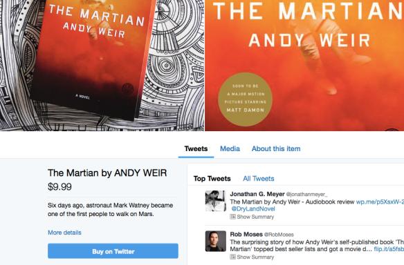 Página de compra de Penguin Random House para el libro The Martian.